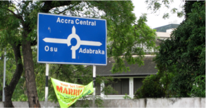 accra traffic sign