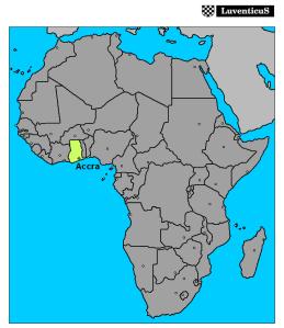 ghana africa map